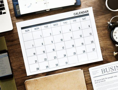 วันและเวลาทำการประจำเดือนตุลาคม 2561