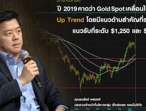 แนวโน้มราคาทองคำ และปัจจัยสำคัญที่นักลงทุนไม่ควรพลาด ประจำปี 2019
