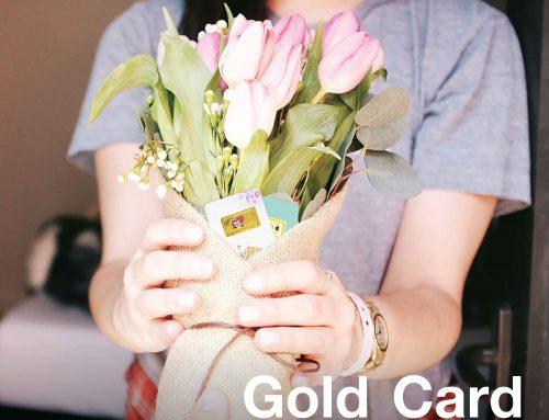 วันแห่งความรักใกล้มาถึง !! เติมความหวานด้วยการ์ดทองคำแท่งพิมพ์สี ลายกุหลาบและ I love you น้ำหนัก 1 บาท